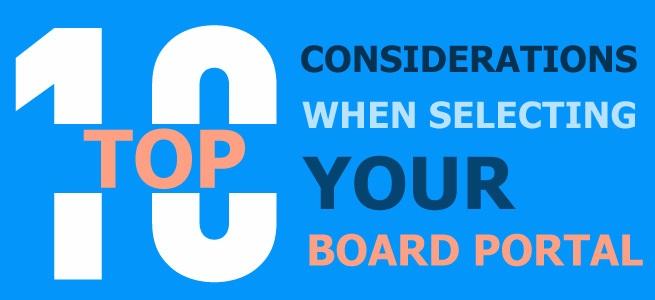 Top 10 Considerations for Board Portals