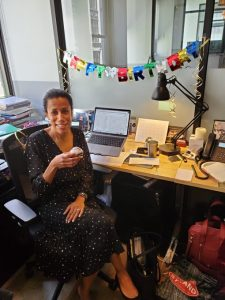 Dr. Hunter Romanelli recently celebrated her birthday at the REACH Institute office.