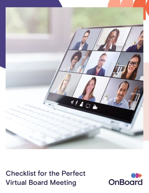 Chceklist for the Perfect Virtual Board Meeting