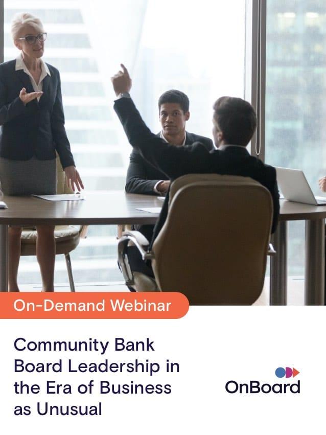 Community Bank Board Leadership Panel