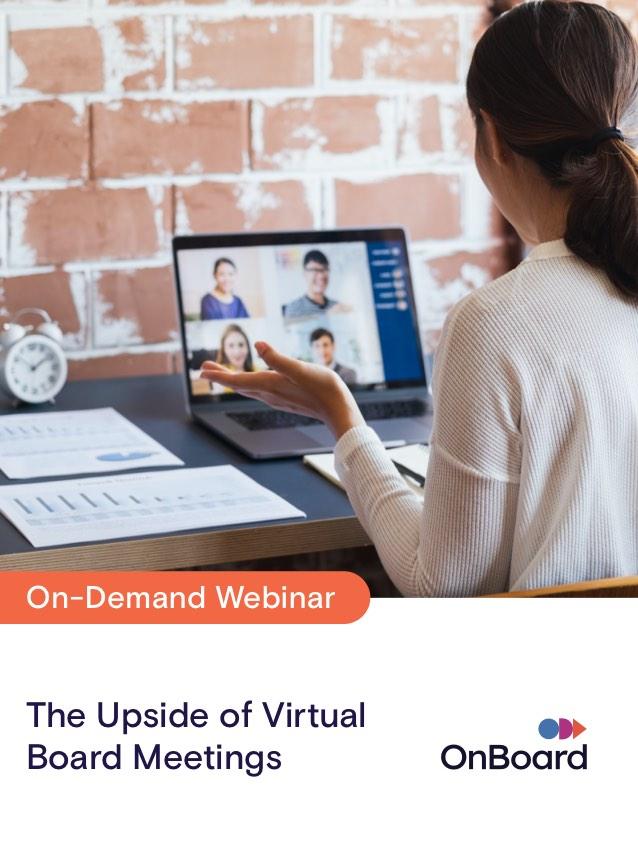 The Upside of Virtual Board Meetings