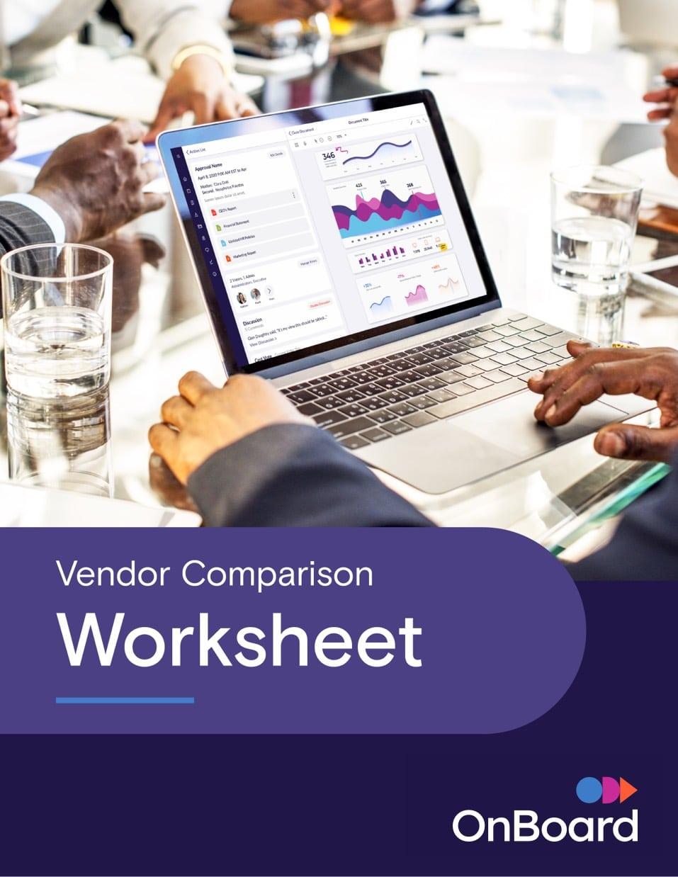Vendor Comparison Worksheet