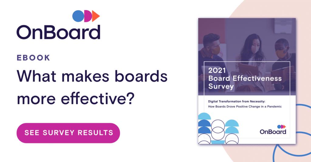 2021 board effectiveness survey