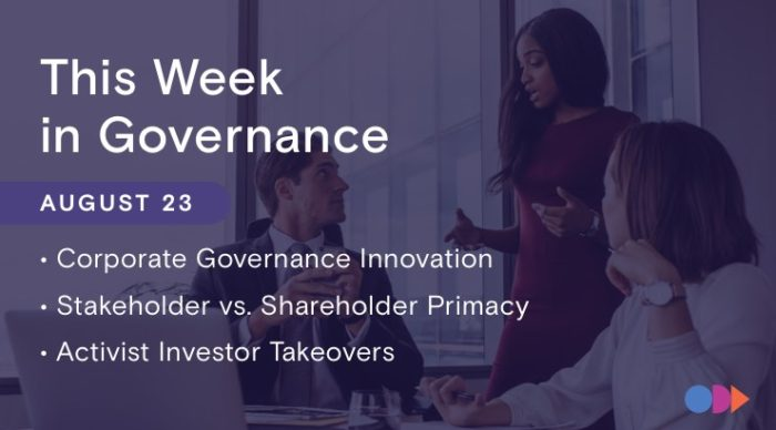 This Week in Governance