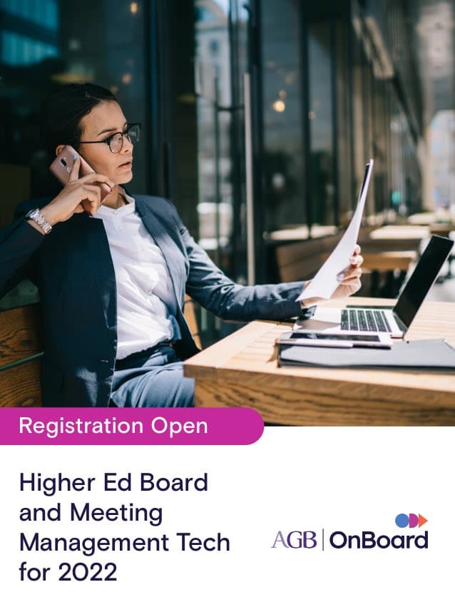 Higher Ed Board & Meeting Management Tech for 2022