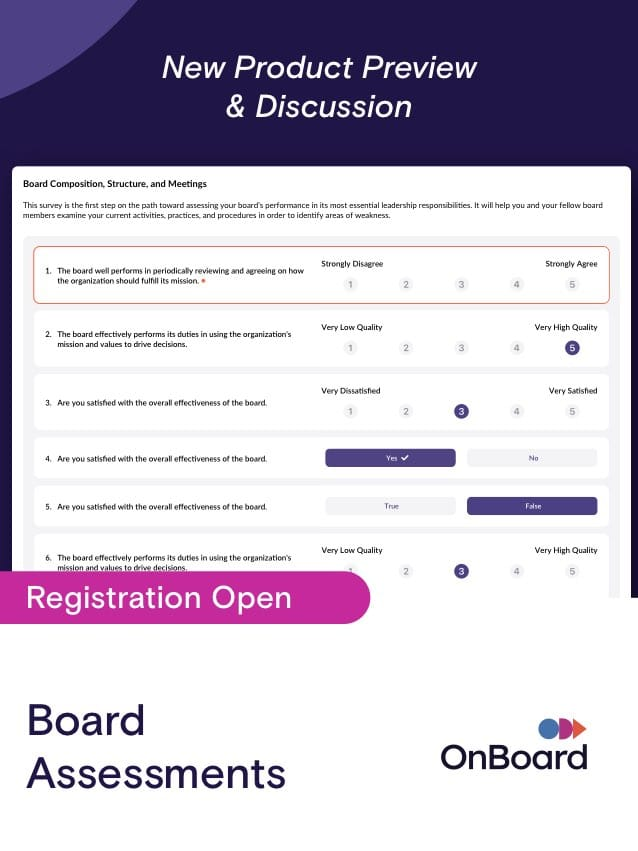 Board Assessments | October 19 @ 1:00pm