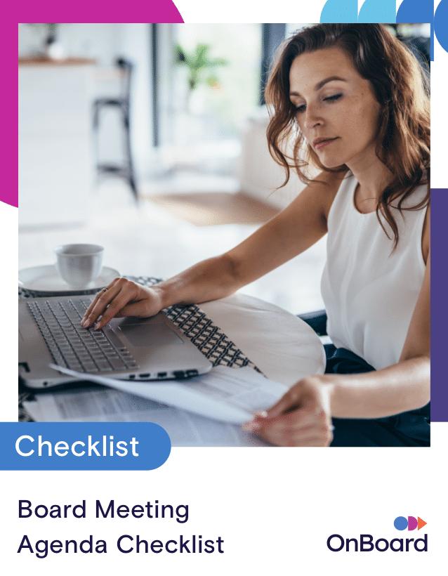 Board Meeting Agenda Checklist