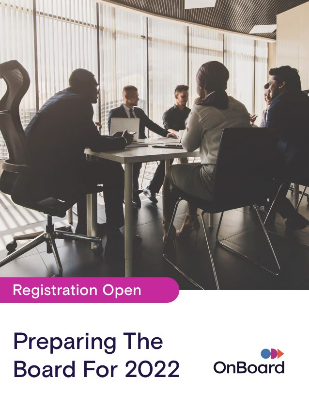 Preparing the Board for 2022 | October 13 @ 1:00 PM ET