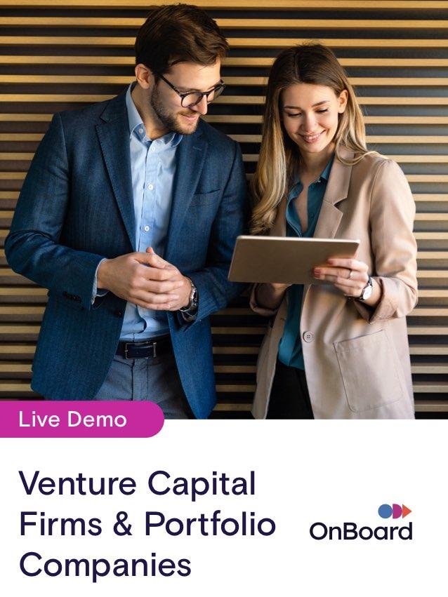 OnBoard for Venture Capital & Their Portfolio Companies | October 28 @ 1:00 pm ET